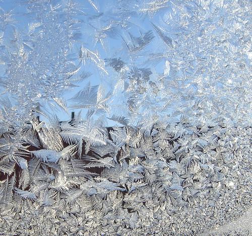 window frost, Helsinki, Finland