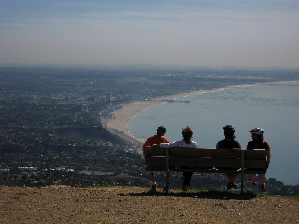 los angeles, pacific palisades, a hike along the paseo miramar trail