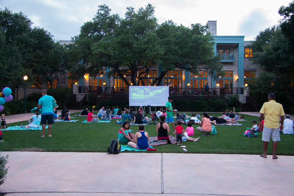 Outdoor movies at Hyatt Hill Country