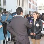 Media at Sit-In Morocco