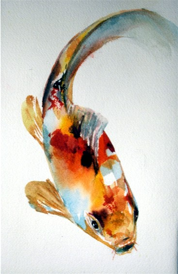 Koi blog koi painting for Japanese koi carp paintings