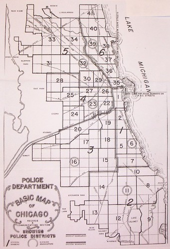 Chicago Police Districts 1  41 Old Map  Flickr  Photo