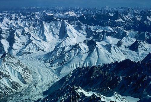 Aerial view of Karakoram Range