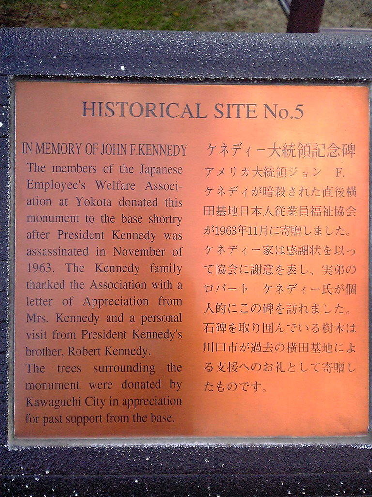 Plaque for Yokota AB JFK Memorial