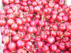 cherry, berry, red, produce, fruit, food,