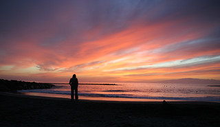 Image of Playa de Fañabe near Playa de las Américas. pink sunset sea sky orange beach silhouette evening spain waves tenerife lonely ubuntu canaryislands costaadeje hisgett fanabebeach playadefanabe