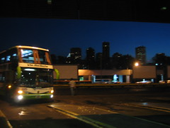 Somewhere in the giant that is Retiro bus station we waited for the bus to come and take us to Cataratas de Iguazu. As it turned in I took this picture. With the Buenos Aires skyline behind it was the most glamorous bus station I've been to.