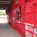 red graffiti wall