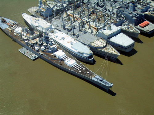 USS Iowa and Mothball fleet, Suisun Bay, California