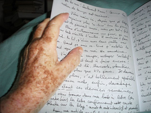 Hand and diary 1