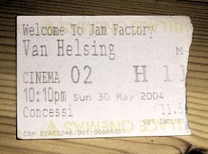Van Helsing ticket