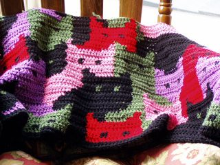Crochet Cat Afghan Pattern : CAT AFGHAN PATTERNS Patterns For You