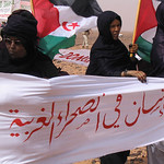 Sahrawi women against the wall of shame