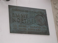 Photo of Emmy Noether bronze plaque