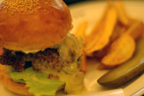 FIREHOUSE Mozzarella Mushroom Burger
