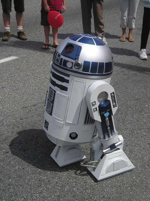 Cool Remote Control R2D2 Droid at Hats Off Day in Burnaby