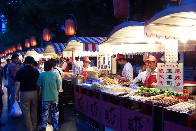 Puestos de comida tradicional china para guiris | Flickr ...