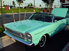 automobile, automotive exterior, vehicle, ford, antique car, classic car, ford galaxie, land vehicle, muscle car, convertible,