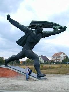 Statue in Stride