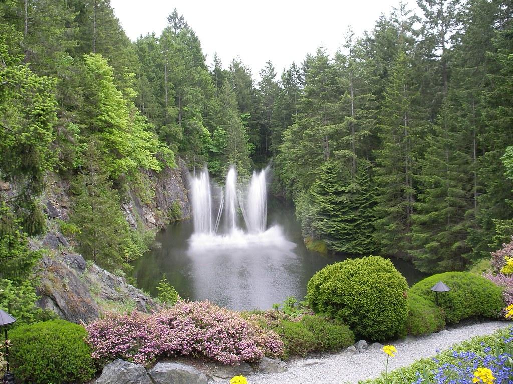 Dancing waterfalls butchart gardens victoria b c a for Gardening tools victoria bc
