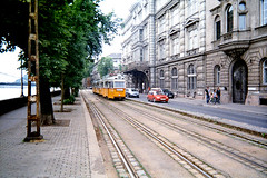 tram and budapest architecture