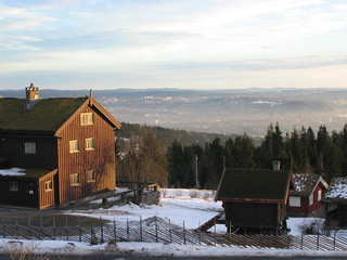 View east from the highlands on the north side of Oslo