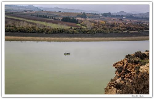 El río Ebro desde Chiprana....**Zaragoza**