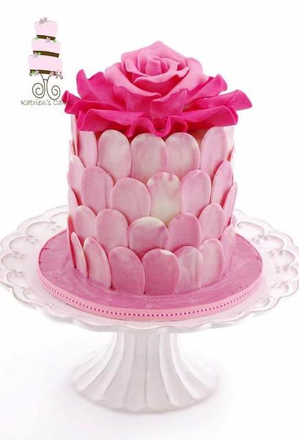 Rose-Petal Cake by Katriens Cakes