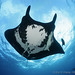 Manta Ray from below by echeng