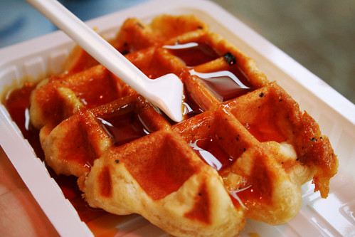 waffle with caramel or something
