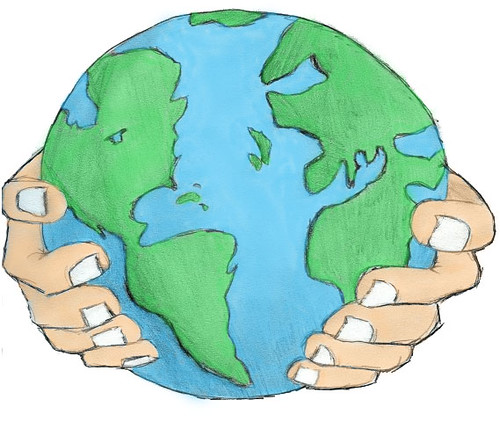 Kayce 39 s earth coloured a drawing i couloured in for Easy to draw earth