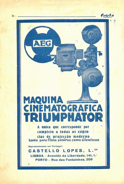 Cinéfilo, Nº 109, 1930 - 31