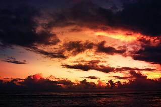 barbados gloden sunset