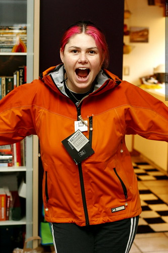 she digs the orange jacket    MG 7753