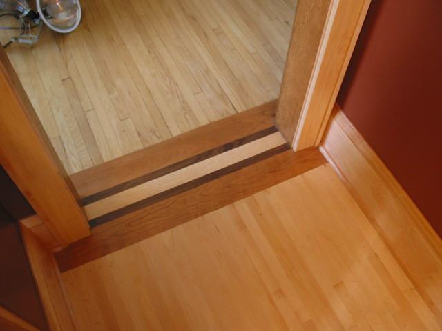 Wood floor transition flickr photo sharing for Flooring transition from kitchen to family room
