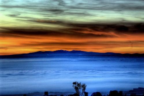 sunset snow newmexico albuquerque hdr 2007 buggs
