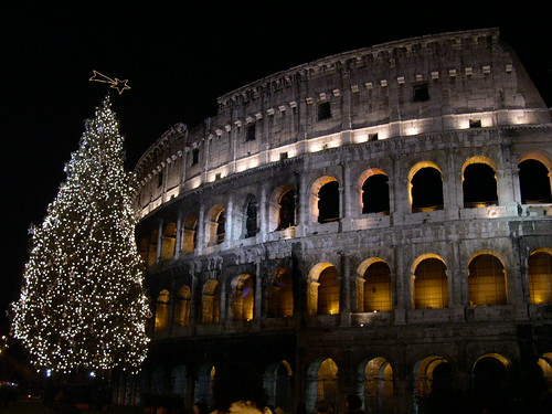 Rome colosseum by night