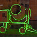 Green neon cement mixer
