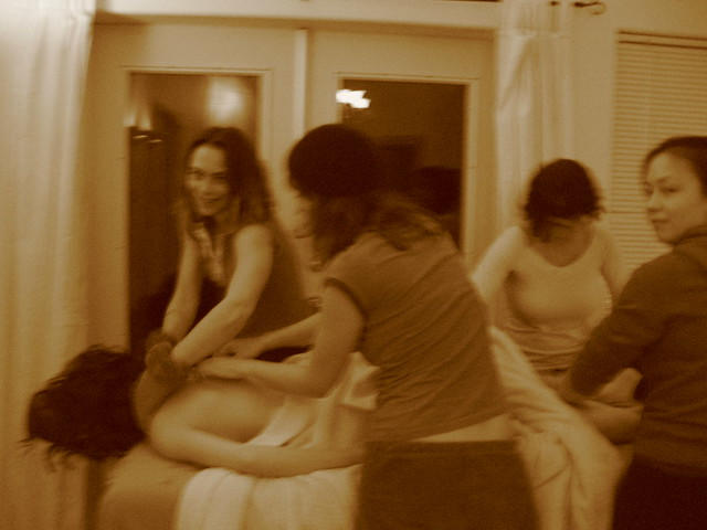 orgy in the spa