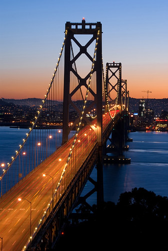 Bay Bridge, San Francisco at dusk