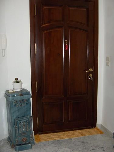 Porte d entr e en bois acajou tunisie for Porte exterieur bois tunisie