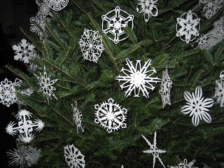 Hand-Cut Paper Snowflakes