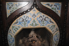Mosaic Fireplace at Patsy Clark's