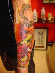 dragon face tattoo (Dejavu Tattoo Studio Chiangmai Thailand)
