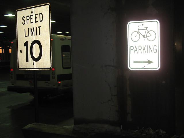denver international airport bicycle parking sign at the w flickr photo sharing. Black Bedroom Furniture Sets. Home Design Ideas