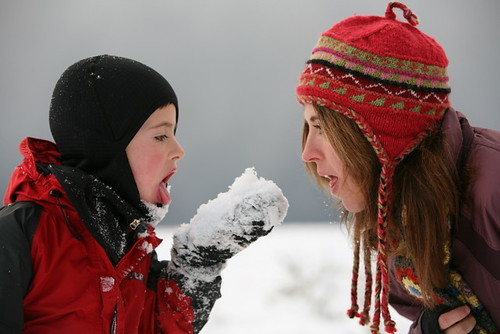 mother, son, snow, tongue, mitten, hat, woo… IMG_6997