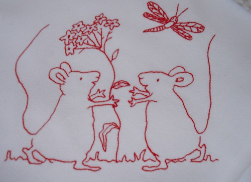 Mice redwork Embroidery