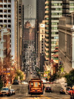 cable car on california street