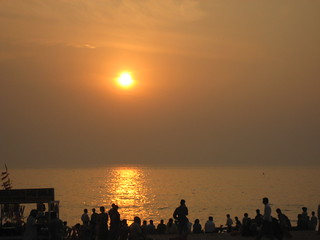 Sunset at juhu beach