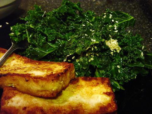 Lemon Sesame Kale and Tofu